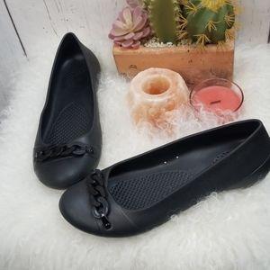 Crocs black ballet flat size 8